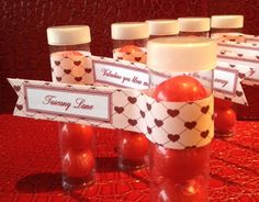 Materials: Red bubble gum Clear Plastic candy tubes Label Directions: Fill the clear plastic candy tubes with 4 red bubble gums and secure the lid. I designed the label to look like a banner flag, … Bubble Gum, Valentines Day, My Design, Bubbles, About Me Blog, Bottle, Valentine's Day Diy, Valentines, Flask