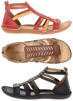Kickers – Papaya: $42.75 , 55% off! (normally 95.00)    Kick off the summer right in these comfortable gladiator-inspired sandals.   Leather upper with contrast detailing, back zip closure.