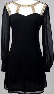 Black Petite Armor Dress