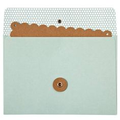 string & tie envelopes + scalloped cards