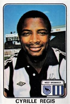 Cyrille Regis of West Brom in West Bromwich, Trading Card Database, Football Cards, My Hero, 1970s, Album, Stickers, Soccer Cards, Card Book