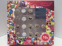 Emoji Stempel-Set 16 Stempel mit Stempelkissen - Diesen und weitere Artikel finden Sie bei Marias-Einkaufsparadies.de! (www.marias-einkaufsparadies.de)