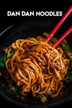 The BEST Dan Dan Mian Dan Dan Noodles Recipe & Video - Seonkyoung Longest - Herzhafte snacks - Beef Recipes, Cooking Recipes, Healthy Recipes, Thai Food Recipes, Best Food Recipes, Chinese Dishes Recipes, Szechuan Recipes, Most Popular Recipes, Barbecue Recipes