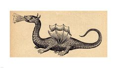 Medieval Dragon II Fine Art Print by Unknown at FulcrumGallery.