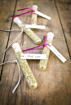 glittering gold confetti sendoff for sparkle wedding ideas
