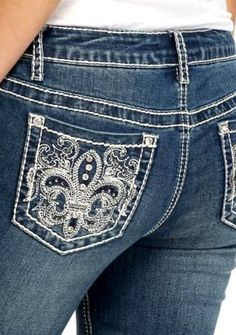 48d9b9c7a6282 Details about EARL JEANS Western Bling Stitch Flap Pockets Boot Cut 16W 22W  24W NEW