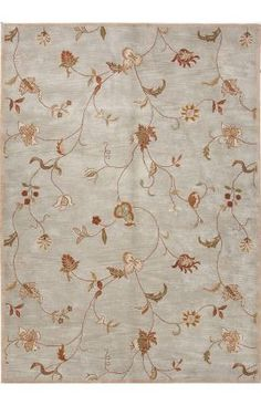 Jaipur Rugs Poeme PM40 Ice Blue Rug. Another bridge option connecting the formal traditional style of living room and dining room with transitional style of family room.