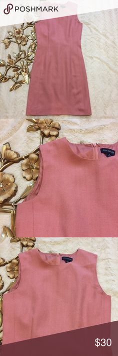 "Ann Taylor Pink Sheath Dress Size 4 Ann Taylor Pink Sheath Dress Size 4 fully lined measurements taken laying flat: 13-1/2"" waist 35-1/2"" length from shoulder 16-1/2"" armpit to armpit Ann Taylor Dresses Midi"