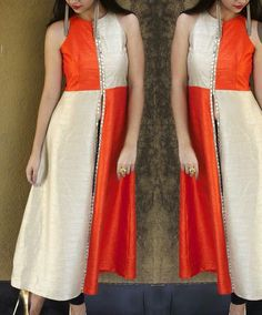beautifull outfit in rawsilk get it made in any colour combination for any…