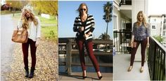 October is for Oxblood: 40 Ways to Wear Oxblood Skinny Jeans |
