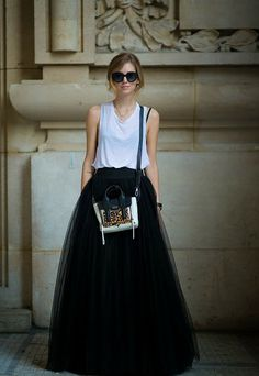 2f1a0d1017a Black Tulle Full Length Bridesmaid Wedding por Welcometoroyalty Paris  Fashion
