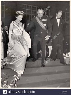 Royal State visit Tour Of Pakistan 1961 Queen Elizabeth II And Duke Of Edinburghs Tour The Queen Attends State Banquet Held In Stock Photo