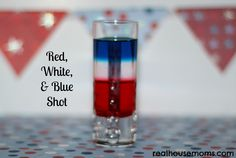Labor Day is the perfect holiday to enjoy a festive drink, while saying cheers and goodbye to a fabulous summer. Celebrate the weekend with a Red, White, and Blue Shooter! It is sweet and yummy! Party Shots, Party Drinks, Fun Drinks, Alcoholic Drinks, Beverages, Cocktails, Yummy Drinks, 4th Of July Party, Fourth Of July