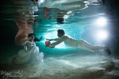My heart is yours . Cenote Trash the Dress Session in Mexico by Magic Art Wedding Studio