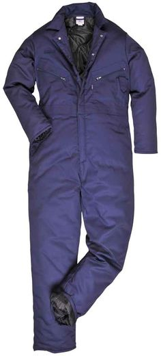 Padded overalls for extreme cold weather, Navy up to 3XL