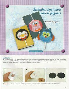 Pap marcador de livro feito com cd