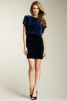 Jessica Simplson - velvet flutter sleeve dress on Hautelook http://www.hautelook.com/short/3A6Q4