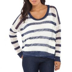 Scoop Neck Stripe Sweater - Must Have Fashions - Events