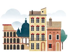 Illustrated Cities of Europe on Behance