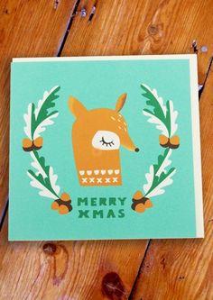 4112. merry xmas deer