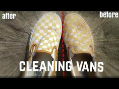 Yellow Slip On Vans, Black And White Vans, Grey Vans, Cleaning White Vans, Cleaning Shoes, Cleaning Tips, How To Clean White Shoes, How To Clean Vans, Check Vans