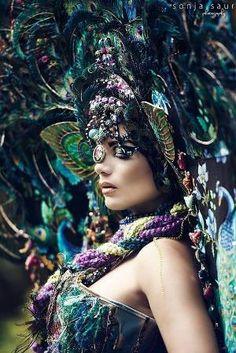 READY TO SHIP Majestic Fairy Peacock Fantasy Woodland fairy nymph goddess…