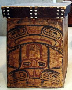 Pacific North West Tsimshian 1850 - I think bent wood boxes are one of my favorites.