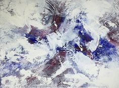 """Abstract Acrylic Painting on Canvas - 12"""" x 9"""""""
