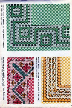Discover thousands of images about Chicken Scratch, Broderie Suisse, Swiss embroidery, Bordado espanol, Stof veranderen. Swedish Embroidery, Hardanger Embroidery, Embroidery Stitches, Embroidery Patterns, Hand Embroidery, Chicken Scratch Patterns, Chicken Scratch Embroidery, Bordado Tipo Chicken Scratch, Cross Stitch Tree
