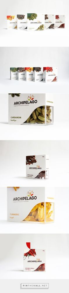 Archipelago – Herbs and Spices Packaging on Behance by Yasmin Adalia Hurianna Newcastle Upon Tyne, UK curated by Packaging Diva PD. Archipelago is a brand that supports Indonesian exotic herbs and spices.