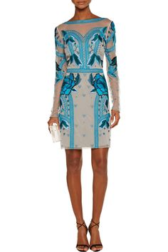 Temperley LondonFlutura embroidered tulle dress