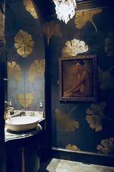 The Visual Vamp Leaf Stencil, Stencil Diy, Stenciling, Wall Stencil Patterns, Wc Decoration, Interior Decorating, Interior Design, Decorating Ideas, Decor Ideas