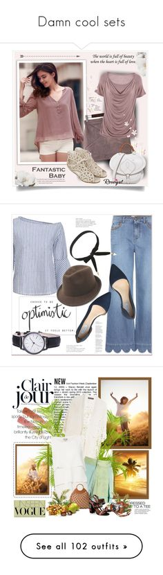 """""""Damn cool sets"""" by sasane ❤ liked on Polyvore featuring Maison Margiela, RED Valentino, Cole Haan, NARS Cosmetics, GET LOST, Brian Atwood, Bobbi Brown Cosmetics, WithChic, L'Oréal Paris and Oscar de la Renta"""