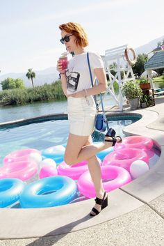 "photo: ""NEW picture of Jena Malone (Johanna) at the Coach Backstage at Soho Desert House event at Coachella yesterday, April (HQ) Festival Wear, Festival Fashion, Festival Style, Celebrity Feet, Celebrity Style, Jena Malone, Lifestyle Articles, Weekend Events, Desert Homes"