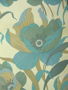 Wedelia | Flower Wallpaper | Vintage Wallpaper | Johnny-Tapete