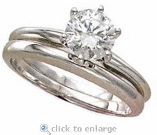 1ct. Round Classic Solitaire with Matching Band