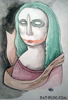 """Artwork by Limone Corteccia. The title of this piece of art is """"LA JOKEROCONDA"""", which is sort of a play on words. You see, while most Americans know her as the """"Mona Lisa"""", in other countries they call her """"La Gioconda""""."""