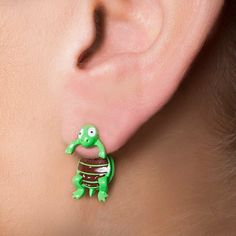 Turtle Front and Back Earrings | Claire's