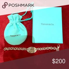 Sterling silv Return to Tiffany's bracelet. RETURN TO TIFFANY'S collection oval tag bracelet Tiffany & Co. Jewelry Bracelets
