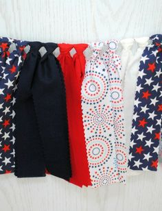 Patriotic Fabric Bunting - FREE Shipping
