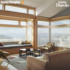 From glare to glow. These Silhouette® window treatments will turn your living space from harsh to the perfect diffused lit sanctuary. Now you can have them motorized as well! Learn more about our Hunter Douglas shades with PowerView™ #CastleDraperies #HomeDesign