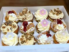 Cupcake order from Christmas Butter Icing, Cake Shop, Sponge Cake, Pastry Chef, Welsh, Christmas Time, British, Cupcakes, Baking