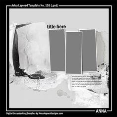 Oscraps :: Shop by Designer :: Anna Aspnes Designs :: Artsy Layered Template No. 155  #art #digitalart #scrapbook #photography #inspireanna