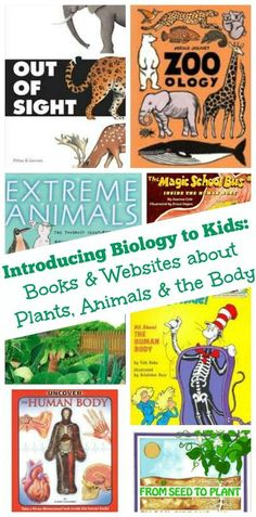Biology books and websites for elementary and middle school kids and projects #biology #science #humanbody
