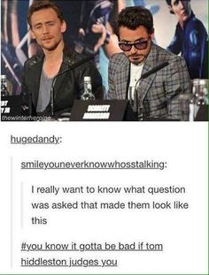 Avengers, Tom Hiddleson and Robert Downey Jr