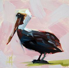 Brown Pelican Bird Art Print by Angela Moulton