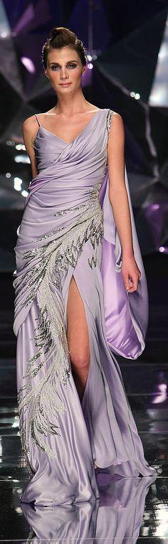 Abed Mahfouz - Couture - Spring-summer 2009 http://en.flip-zone.com/fashion/couture-1/independant-designers-41/abed-mahfouz-858 (Lavender)