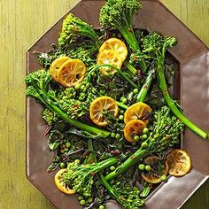 Broccolini with Peas & Seared Lemons From Better Homes and Gardens, ideas and improvement projects for your home and garden plus recipes and entertaining ideas.