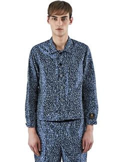 Men's Jackets - Clothing | Find more at LN-CC - Satin Print Workman Jacket