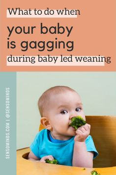 Your baby gagging can be terrifying. And while this is normal, sometimes this can be traced back to sensory issues in babies. Read more to find out if your baby has oral sensory aversions and learn about what to do when babies have a sensitive reflex and gag on food! Baby Led Weaning Breakfast, Baby Led Weaning First Foods, Baby Weaning, Mom Hacks, Baby Hacks, Gentle Parenting, Parenting Hacks, Newborn Baby Tips, Baby Feeding Schedule